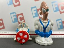 Fast Food Toys Premiums Taco Bell Series Earthworm Jim Figures Lot of 2