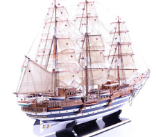 "53"" Italian Training Ship Amerigo Vespucci Model Ship; Wooden Navy Barques Model"