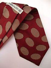 EMPORIO ARMANI cravatta tie original 100% seta silk made in Italy new