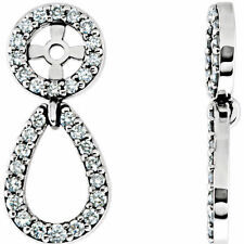 Diamond Earring Jackets In 14K White Gold (1/3 ct. tw