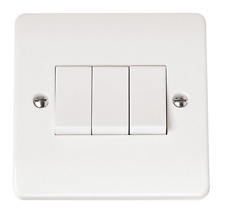 Click Mode Accessories - Switches and Sockets - Full Range 3 Gang 2 Way Switch