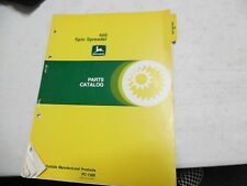 John Deere 602 Spin Spreader Parts Catalog