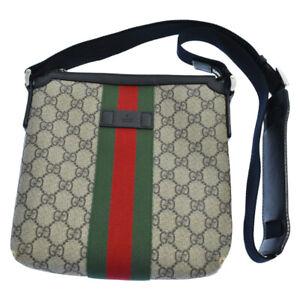 Gucci GG Supreme Messenger Bag 471454 Brown gb1745