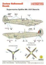 Techmod 1/48 Supermarine Spitfire Mk. I-XVI Stencil # 48093
