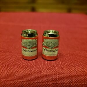 2 Pcs Miniature 1:6 Scale Budweiser Beer Cans Model Drinks ~Dollhouse Village ++