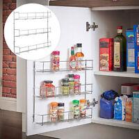 Spice Rack Cabinet Organizer Wall Door Mount Storage Kitchen Shelf Pantry  A+