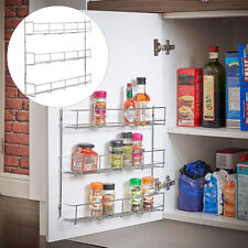 Spice Rack Cabinet Organizer Wall Door Mount Storage Kitchen Shelf Pantry A+