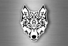 sticker car decal bumper biker motorcycle wolf tribal tuning head big size A4 r1