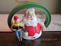 Coca Cola Santa Claus Elf Bottle of COKE  Christmas Ornament  Busy Man's  Pause