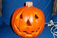 Foam Halloween Pumpkin Jack-O'-Lantern Blowmold Indoor Electric Lighted
