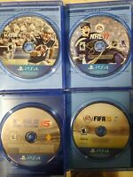 PS4 (5) Game LOT - NHL 17, MADDEN 17, FIFA 15, MLB 15, NBA 2K15