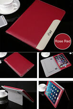 """Leather Smart Case Stand Magnetic Cover iPad 2 3 4 Air Mini Pro 9.7"""" Luxury for iPad 2/3/4 Rose Red"""