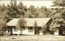 Poland Springs ME Rolly's Camp Bungalows Real Photo Postcard