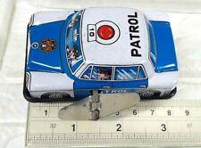 RARE VINTAGE WIND UP TIN TOY PATROL POLICE MERCEDES BENZ 300 SE CAR JAPAN