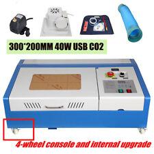 Coupeur 300x200mm de graveur de laser de port de l'USB 220V de CO2 de 40W Cutte