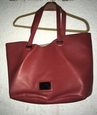 nicole miller extra large weekend tote bag Red Rust Color