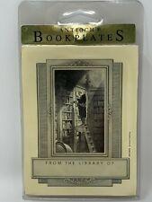 "Carl Spitzweg "" The Bookworm"" 62 Antioch Bookplates - Depicts Man on Ladder"