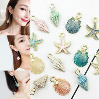 DIY 13Pcs Conch Sea Shell Pendant Charms Jewelry Making Handmade Accessories