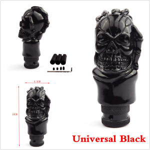 Black Skull Head Universal Manual Transmission Car Gear Shift Knob Shifter Lever