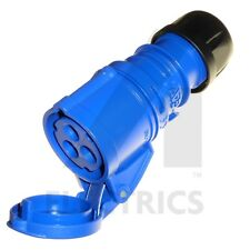 E Azul 220-250 V IP44 impermeable Industrial Trailing Plug Conector 16 A 16 A enchufe y Acoplador r/ápido de 3 pines Fit 2P