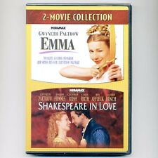 2 movies: Emma, Shakespeare In Love, new DVDs Paltrow, Dench, Rush Affleck Firth