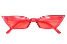 Small Cat Eye Rectangular Sunglasses Color Translucent Frame Women Fashion