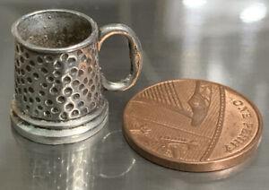 Antique Silver Miniature Beer Tankard - Victorian