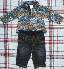 Liberty Shirt Teamed With Baby Gap Jeans, Baby Boy Outfit 0-3 Months