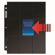 x10 Ultra Pro Premium Black Side Loading Platinum 18 Pocket Trading Card Pages