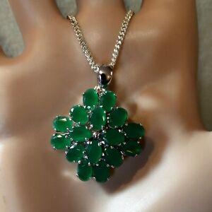 SILVER second hand jade pendant