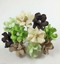 50 Paper Flowers Wedding Party Scrapbook Toppers Basket Art Craft Supply S15-427