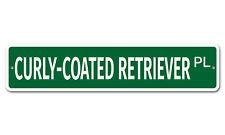 "5736 Ss Curly Coated Retriever 4"" x 18"" Novelty Street Sign Aluminum"