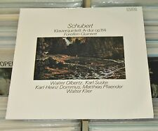 Schubert - LP (VG+) Klavierquintett A-dur - Olbertz Suske Dommus Klier / ETERNA