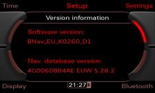 Mise à jour GPS - MMI 3G Basic - West - Audi - 2021 (5.31.2)