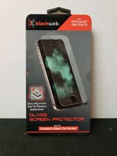 BlackWeb Glass Screen Protector for iPhone SE/5/5S (NEW)