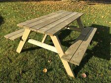 Picknicktisch 150 cm Festzeltgarnitur Gartentisch Gartenbank Bierbank Holztisch,