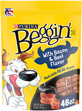 Dog Treats Purina Beggin' Strips Training Snack Food 48Oz Bacon Beef Flavor New