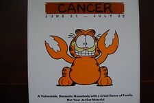 OLD (1978) GARFIELD CANCER STAR SIGN CAR/DOOR/WALL STICKER