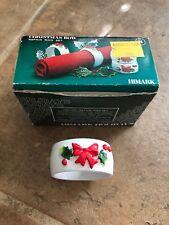 Christmas Holiday Bow Napkin Ring Set 8