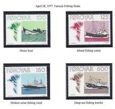 "FAROE ISLANDS  #24-27  MNH  1977  ""MOTOR FISHING BOATS"""