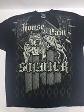 Official House Of Pain Double Sided Graphic T Shirt Sz XXL Dog Collar Soldier