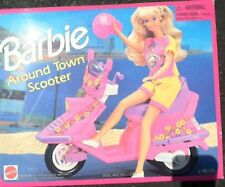 Barbie Around Town Scooter Vintage Pink Vespa Scooter Motor Bike RETIRED BNIB