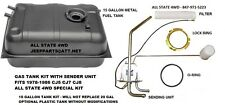 JEEP 1978-1986 CJ7 CJ5 CJ8 REAR MOUNT 15 GALLON GAS TANK & FUEL SENDER COMBO
