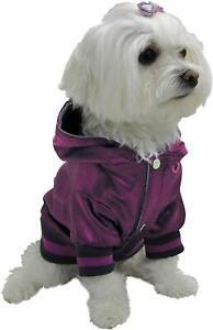 New Dog It Style Reflective Metallic Dog Hoodie