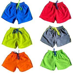 Boys Kids Swim Shorts Swimming Trunks Surf Quick Dry Summer Holiday Beach Mesh