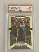 2019-20 ZION WILLIAMSON PANINI PRIZM BASKETBALL # 248 ROOKIE CARD RC PSA 10 GEM