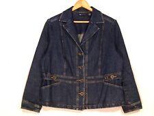 bc966d6c541 Relativity fitted stretch button denim jean jacket   women 1X   great   b25