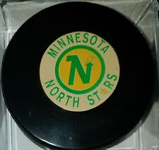 Vintage NHL Minnesota North Stars Converse Art Ross Game Hockey Puck CCM USA old