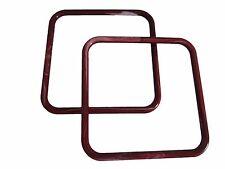 "Pair of 8"" Burgundy Marble Square Plastic Macrame Craft Handbag Purse Handles"