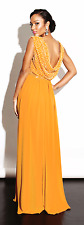 Virgos Lounge Nina V Neck Drape Back Wrap Skirt Maxi Wedding Party Dress 12 40